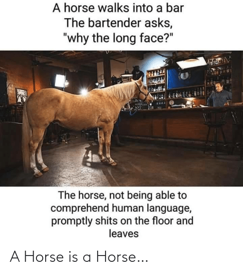 Horse: A Horse is a Horse…