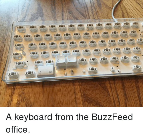 The Buzzfeed: A keyboard from the BuzzFeed office.