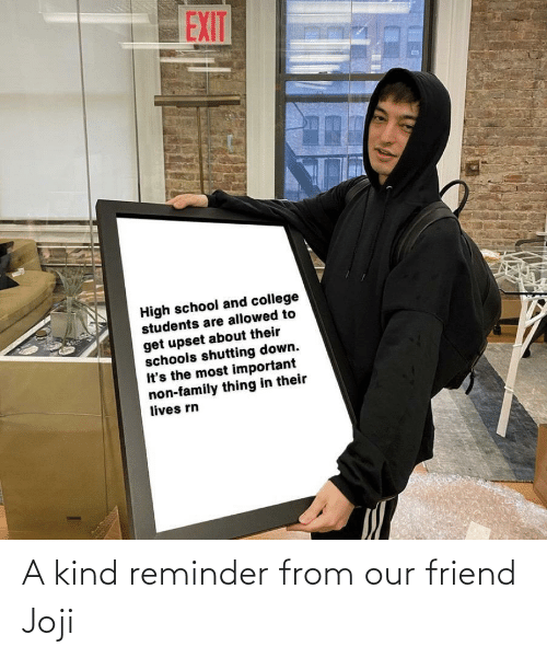 Our: A kind reminder from our friend Joji