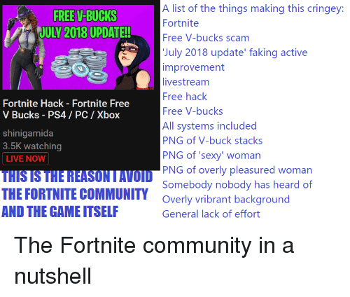 A List Of The Things Making This Cringey Fortnite Free V Bucks Scam