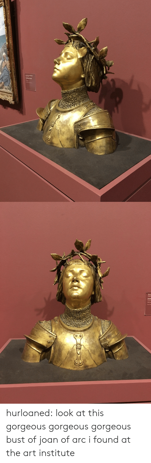 Joan: a.mena   Jeans hurloaned: look at this gorgeous gorgeous gorgeous bust of joan of arc i found at the art institute