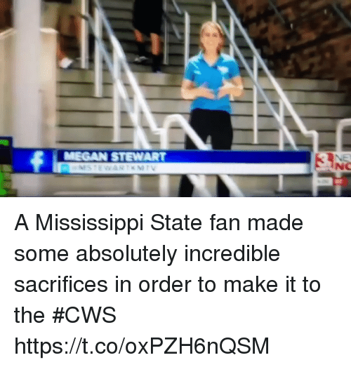 Sports, Mississippi, and Mississippi State: A Mississippi State fan made some absolutely incredible sacrifices in order to make it to the #CWS https://t.co/oxPZH6nQSM