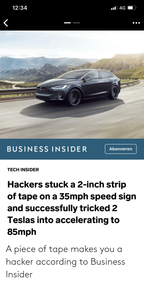 tape: A piece of tape makes you a hacker according to Business Insider