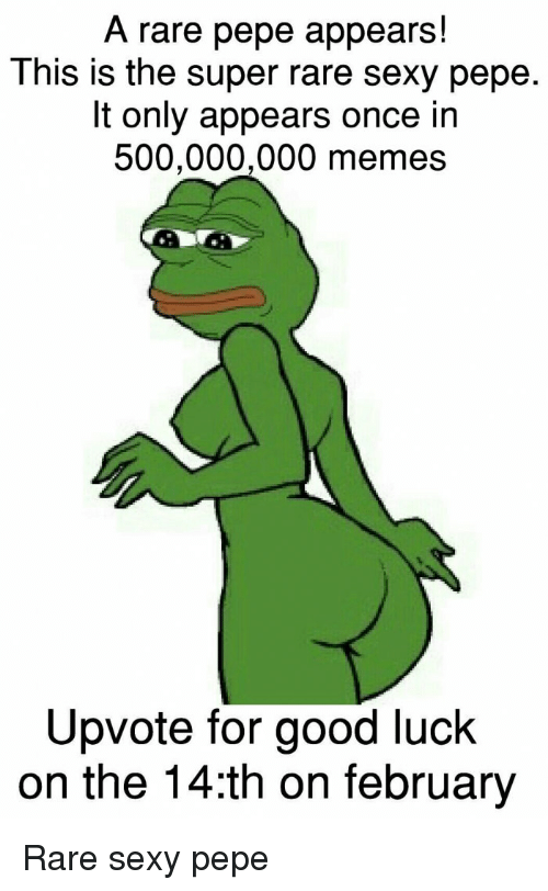 A Rare Pepe Appears This Is The Super Rare Sexy Pepe It Only