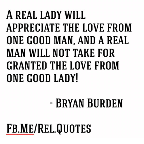 A REAL LADY WILL APPRECIATE THE LOVE FROM ONE GOOD MAN AND a ...