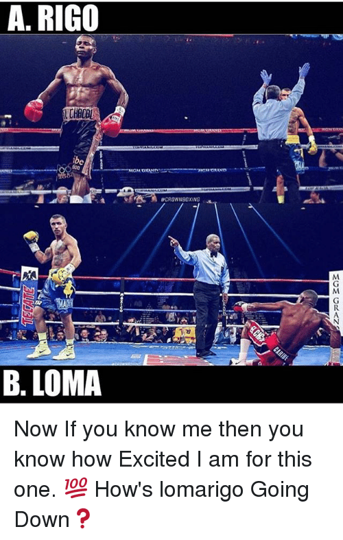 Memes, 🤖, and How: A. RIGO  CHAC  B. LOMA Now If you know me then you know how Excited I am for this one. 💯 How's lomarigo Going Down❓