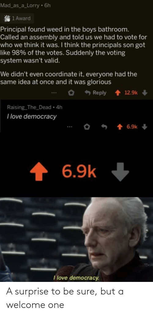 one: A surprise to be sure, but a welcome one