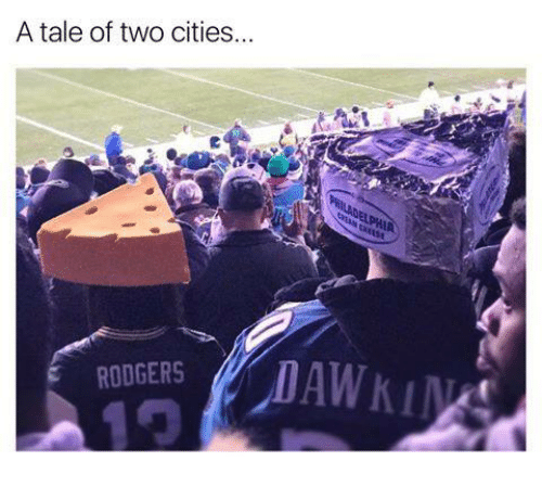 Rodgering: A tale of two cities...  E RODGERS