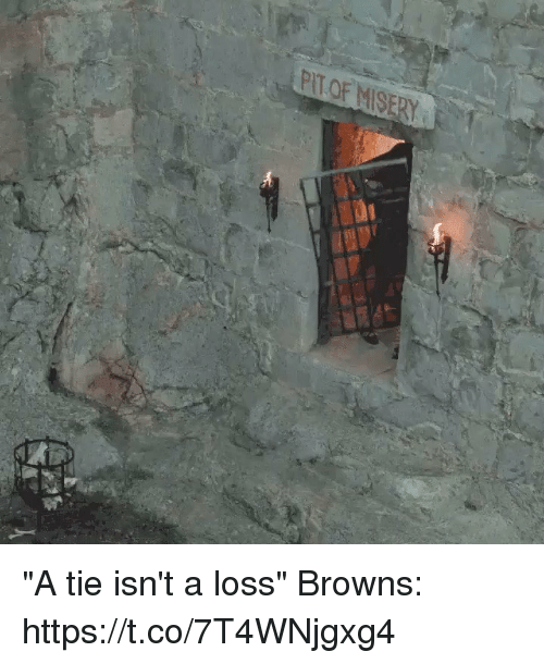 """Tom Brady, Browns, and  Tie: """"A tie isn't a loss""""  Browns: https://t.co/7T4WNjgxg4"""