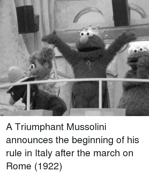 Italy, Rome, and Mussolini: A Triumphant Mussolini announces the beginning of his rule in Italy after the march on Rome (1922)