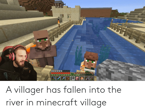 A Villager Has Fallen Into The River In Minecraft Village
