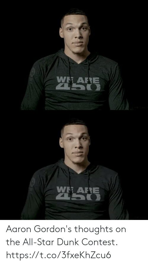 Dunk: Aaron Gordon's thoughts on the All-Star Dunk Contest. https://t.co/3fxeKhZcu6
