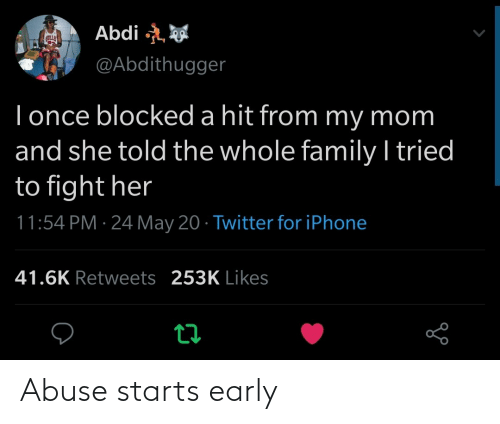 Starts: Abuse starts early