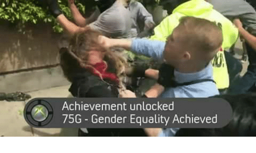 achievement unlocked: Achievement unlocked  75G Gender Equality Achieved