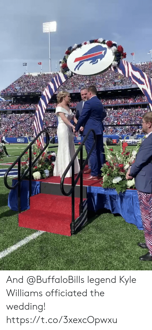 Memes, Nfl, and Wedding: ackengic & 9erdan!  NFL And @BuffaloBills legend Kyle Williams officiated the wedding! https://t.co/3xexcOpwxu