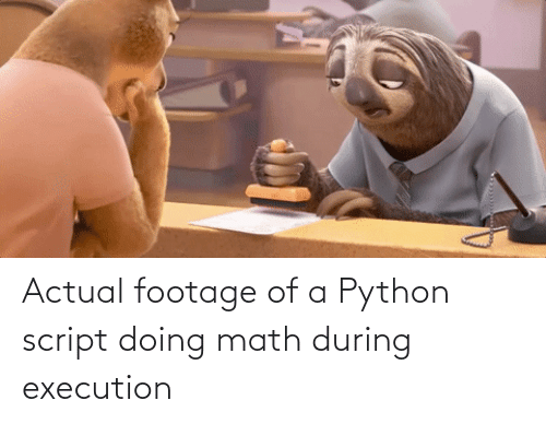 actual: Actual footage of a Python script doing math during execution