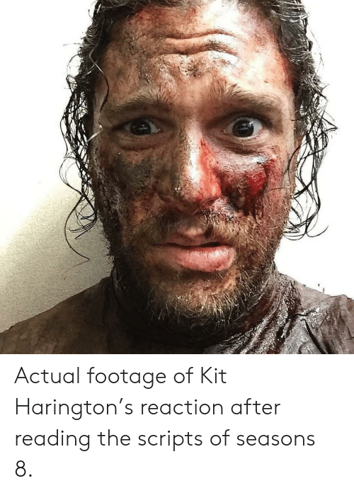 Actual Footage of Kit Harington's Reaction After Reading the
