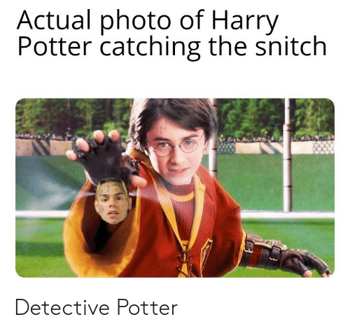 Catching: Actual photo of Harry  Potter catching the snitch Detective Potter