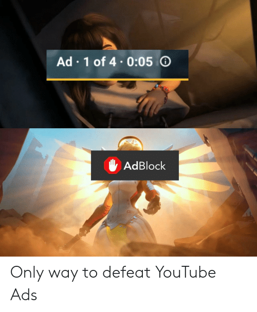 4 0: Ad 1 of 4.0:05  AdBlock Only way to defeat YouTube Ads