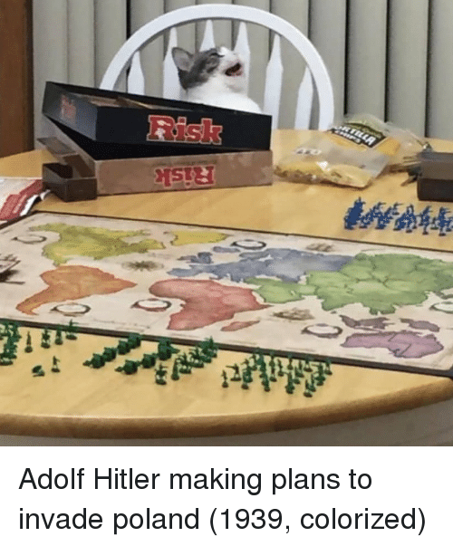 Adolf: Adolf Hitler making plans to invade poland (1939, colorized)