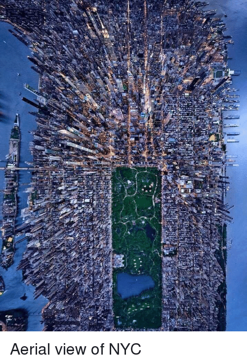 Nyc, Aerial View, and View