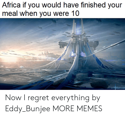 Africa, Dank, and Memes: Africa if you would have finished your  meal when you were 10 Now I regret everything by Eddy_Bunjee MORE MEMES