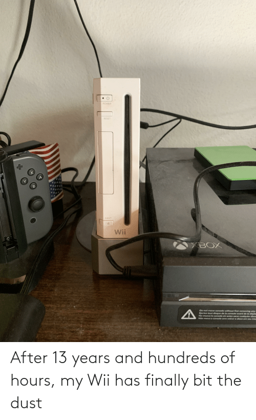wii: After 13 years and hundreds of hours, my Wii has finally bit the dust