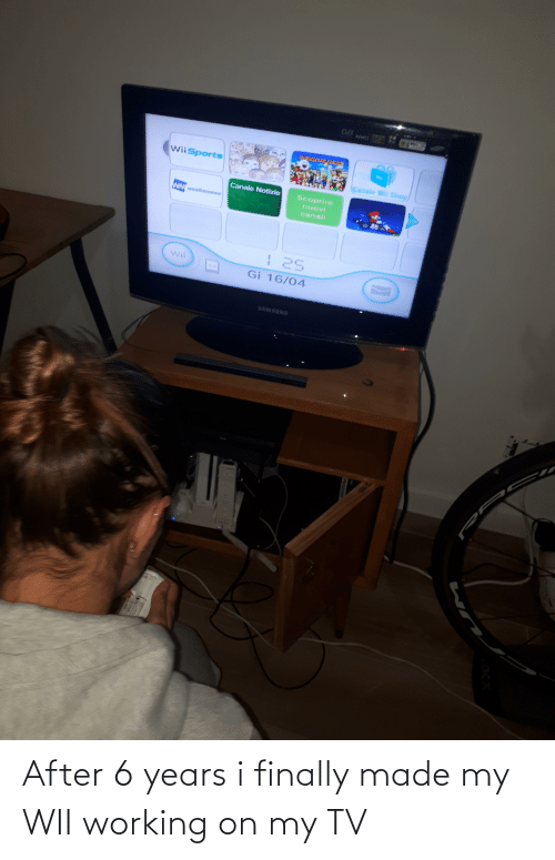 wii: After 6 years i finally made my WII working on my TV
