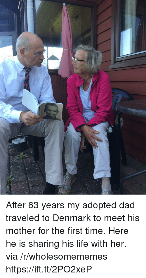 Dad, Life, and Denmark: After 63 years my adopted dad traveled to Denmark to meet his mother for the first time. Here he is sharing his life with her. via /r/wholesomememes https://ift.tt/2PO2xeP