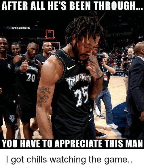 Basketball, Nba, and Sports: AFTER ALL HE'S BEEN THROUGH  @NBAMEMES  0.0  20  YOU HAVE TO APPRECIATE THIS MAN I got chills watching the game..