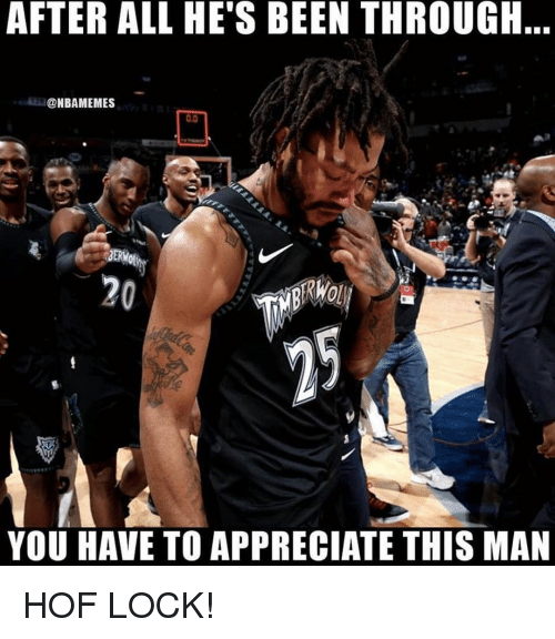 Nba, Appreciate, and Been: AFTER ALL HE'S BEEN THROUGH..  @NBAMEMES  0.0  BERK  20  YOU HAVE TO APPRECIATE THIS MAN HOF LOCK!