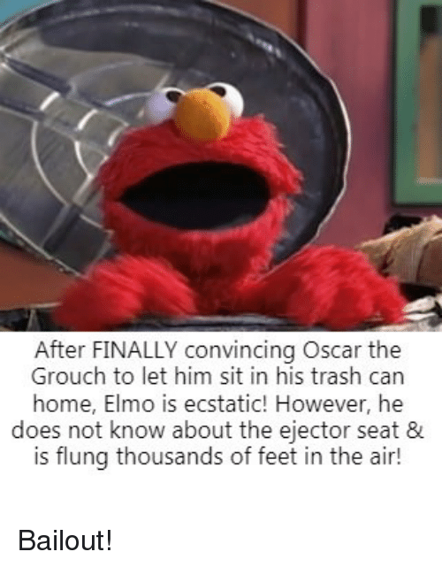 After Finally Convincing Oscar The Grouch To Let Him Sit In