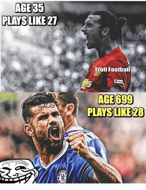 AGE 35 PLANS LIKE 21 Troll Football AGE 699 PLAYS LIKE 28 | Meme on