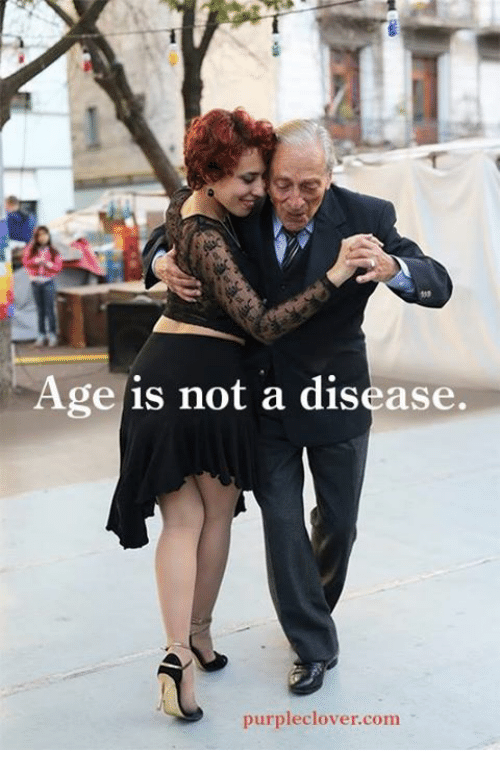 Memes, Purple, and 🤖: Age is not a disease.  purple clover com