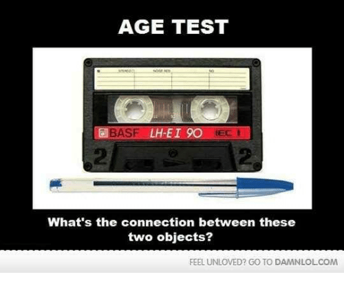 basf: AGE TEST  BASF LH-ET OO  IEC  What's the connection between these  two objects?  FEEL UNLOVED? GO TO DAMNLOLCOM