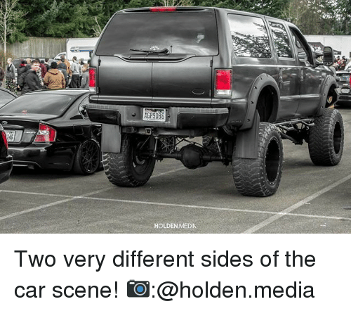 holden: AGP9086  HOLDEN MEDIA Two very different sides of the car scene! 📷:@holden.media