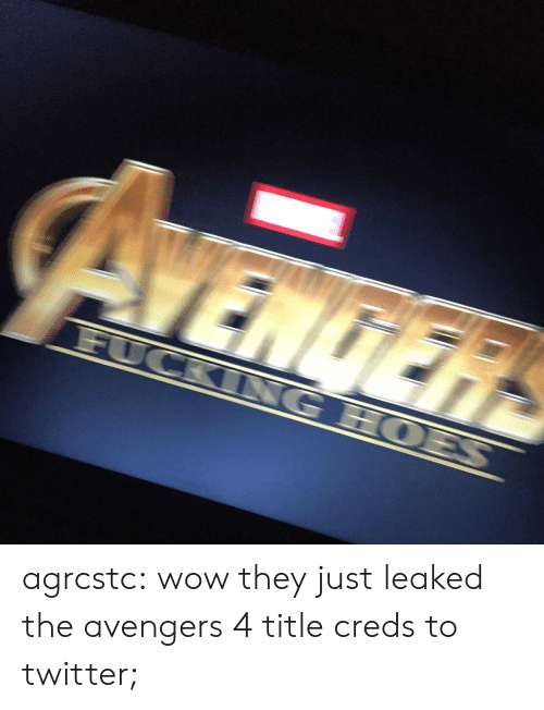 Creds: agrcstc:  wow they just leaked the avengers 4 title  creds to twitter;