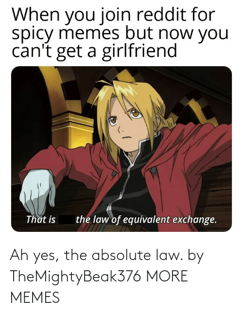 More Memes: Ah yes, the absolute law. by TheMightyBeak376 MORE MEMES