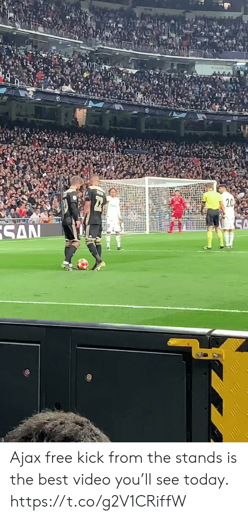 ajax: Ajax free kick from the stands is the best video you'll see today. https://t.co/g2V1CRiffW