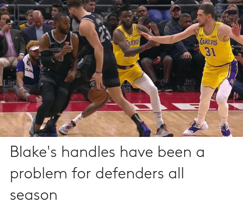 Defenders: AKERS  31  OTO  Li  ac Blake's handles have been a problem for defenders all season