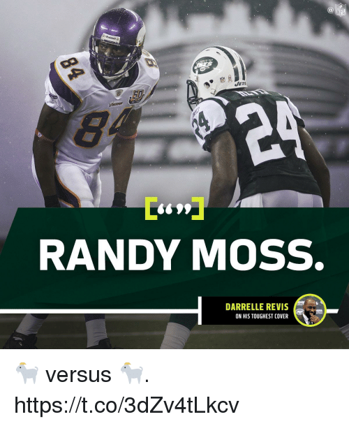 Memes, Jets, and 🤖: al  Riddell  JETS  S99  RANDY MOSS.  DARRELLE REVIS  ON HIS TOUGHEST COVER 🐐 versus 🐐. https://t.co/3dZv4tLkcv