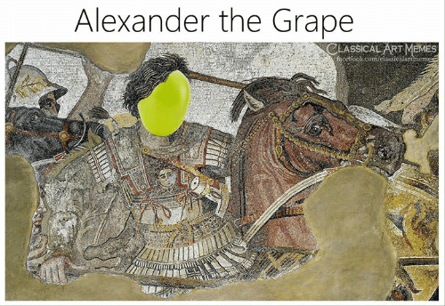 Memes, Classical Art, and Classical: Alexander the Grape  CLASSICAL ART MEMES
