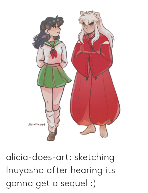 InuYasha: alicia-does-art:  sketching Inuyasha after hearing its gonna get a sequel :)