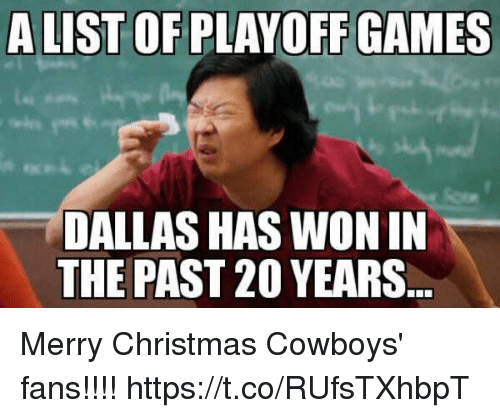 Christmas, Dallas Cowboys, and Dallas: ALIST OF PLAYOFF GAMES  DALLAS HAS WON IN  THE PAST 20 YEARS Merry Christmas Cowboys' fans!!!! https://t.co/RUfsTXhbpT
