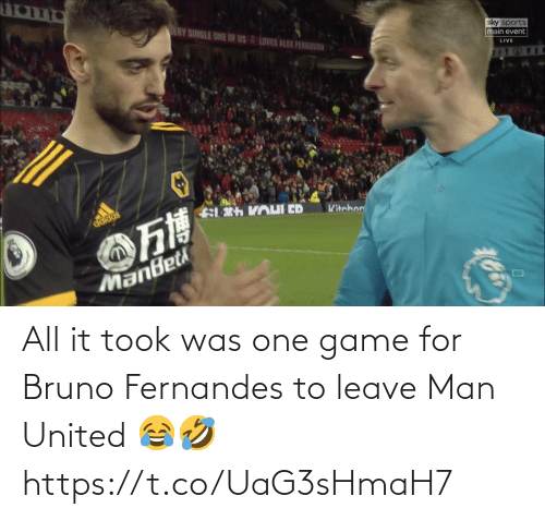 ballmemes.com: All it took was one game for Bruno Fernandes to leave Man United 😂🤣 https://t.co/UaG3sHmaH7