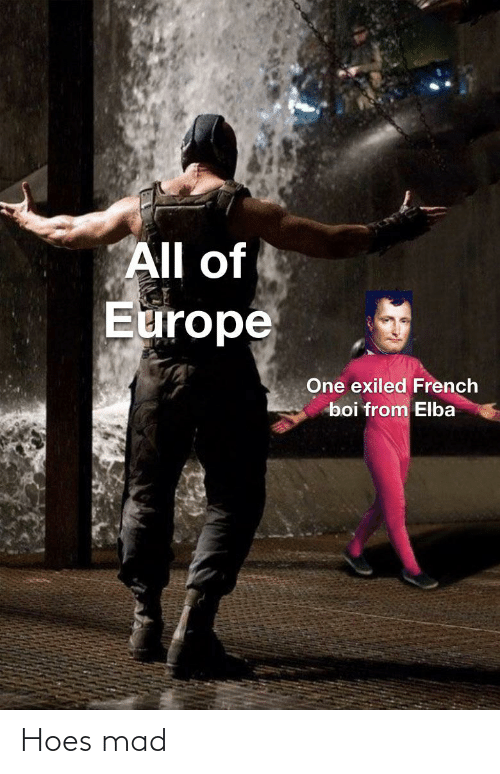 Hoes, Europe, and History: All of  Europe  One exiled French  boi from Elba Hoes mad