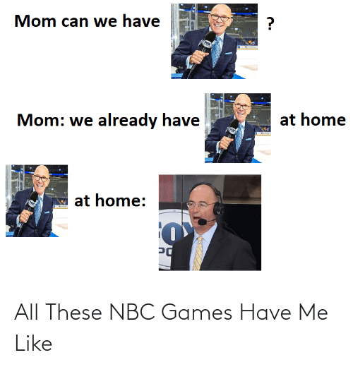 nbc: All These NBC Games Have Me Like
