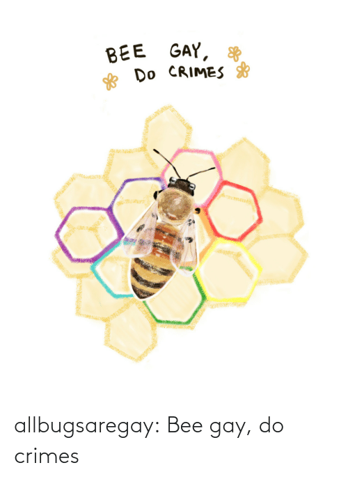 bee: allbugsaregay: Bee gay, do crimes