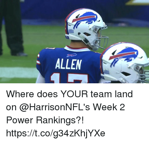 Memes, Power, and 🤖: ALLEM Where does YOUR team land on @HarrisonNFL's Week 2 Power Rankings?! https://t.co/g34zKhjYXe
