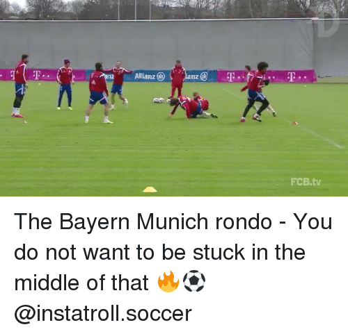 allianz: Allianz  FCB.tv The Bayern Munich rondo - You do not want to be stuck in the middle of that 🔥⚽️ @instatroll.soccer